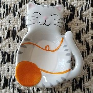Kitty Cat Teabag Holder Trinket Tray